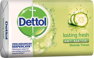 Sabun Anti Bakteri Dettol Lasting Fresh (65g)
